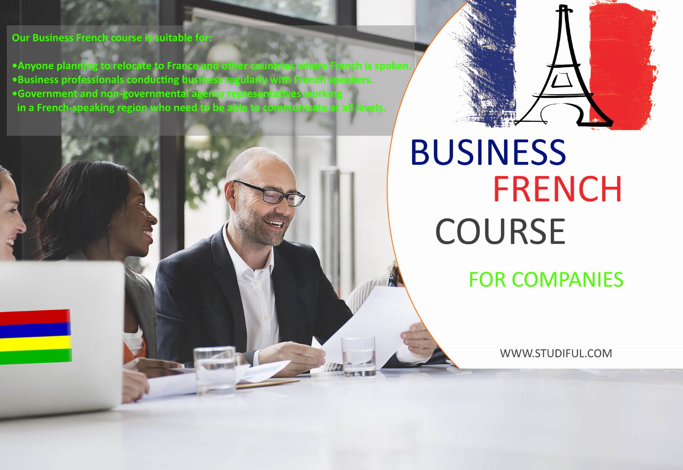 Business French for Companies at Mauritius.