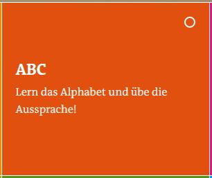 Deutsches Alphabet DW